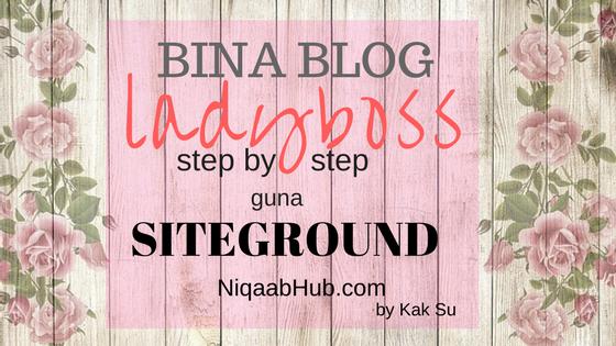 Buat Blog dengan SiteGround
