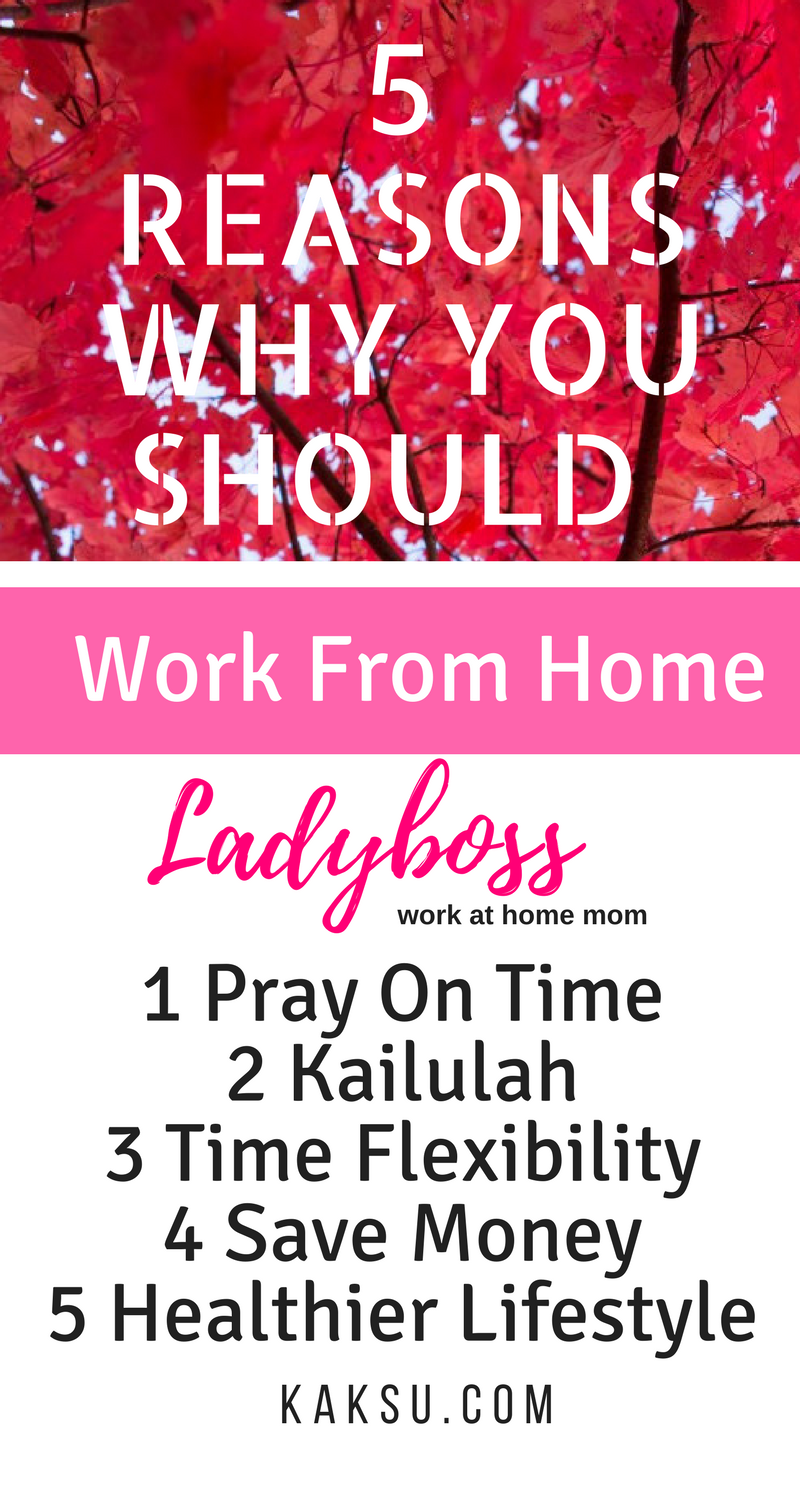 5 Reasons Why You Should Work From Home