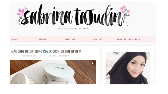 Beauty/Lifestyle Blog - Sabrina TAjudin