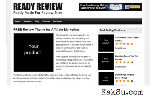 ReadyReview - WordPress Theme Untuk Affiliate Marketing