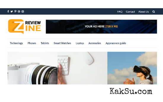 ReviewZine WordPress Theme Untuk Affiliate Marketing